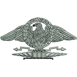 Military Eagle embroidery design