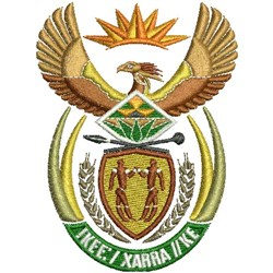South Africa Crest embroidery design