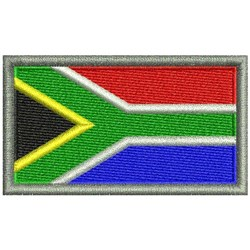 South Africa Flag embroidery design