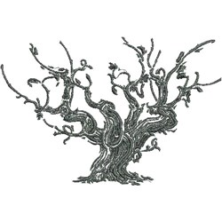 Haunted Tree embroidery design