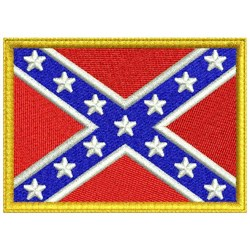 Confederate Flag embroidery design