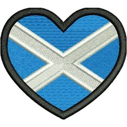 Scotland Heart Flag embroidery design