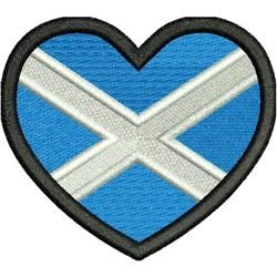 Scotland Heart Flag embroidery design
