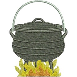 Pot On Fire embroidery design