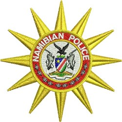 Namibian Police embroidery design
