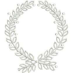 Laurel Wreath embroidery design
