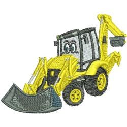 Cartoon Excavator embroidery design