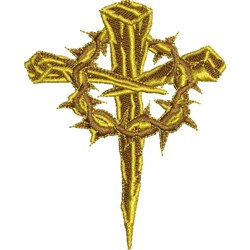 CROSS & THORNS embroidery design