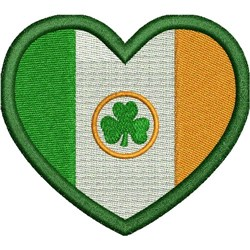 HEART FLAG  - IRELAND embroidery design