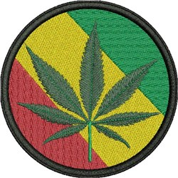 CANNABIS PATCH embroidery design
