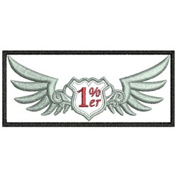 1% Er Patch embroidery design