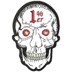 1% Er Skull embroidery design