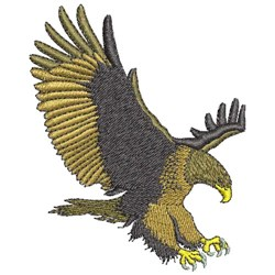 SWOOPING EAGLE embroidery design