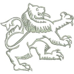 Lion Decal embroidery design
