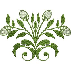 Flower Decal embroidery design