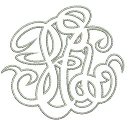 Monogram E embroidery design