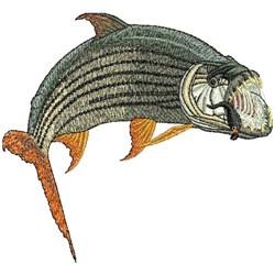 Tiger Fish embroidery design