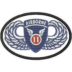 USA 11TH AIRBORNE PATCH embroidery design