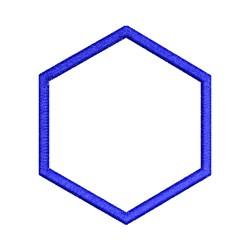 Applique Hexagon embroidery design