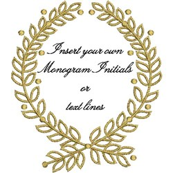 Wedding Ring Pillow Wreath embroidery design