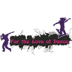 Love Of Dance embroidery design
