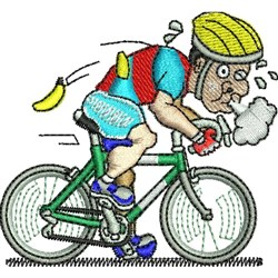 Cycling Man embroidery design