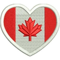 Heart Flag - Canada embroidery design