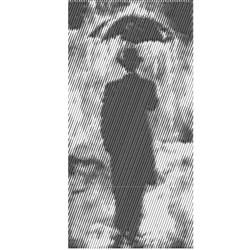 Man In The Rain embroidery design