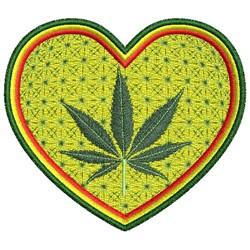 HEART CANNABIS embroidery design