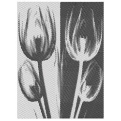 TULIPS ABSTRACT embroidery design