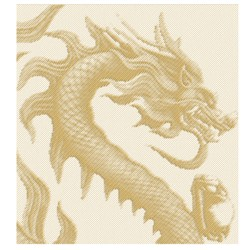 CHINESE DRAGON LARGE embroidery design