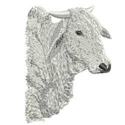 BULL HEAD BRAHMAN embroidery design