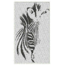 ZEBRA ABSTRACT embroidery design