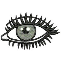 EYE ABSTRACT embroidery design