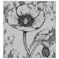 POPPY FLOWER embroidery design