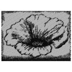 POPPY FLOWER SMALL embroidery design