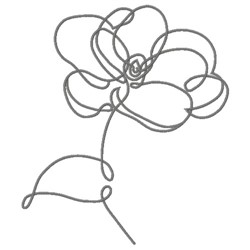DAISY LINE ART embroidery design