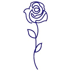 ROSE BUD LINE ART embroidery design