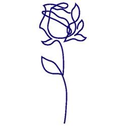 LINE ART ROSE embroidery design