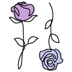 ROSES LINE ART embroidery design