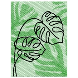 MONSTERA LEAF PICTURE embroidery design