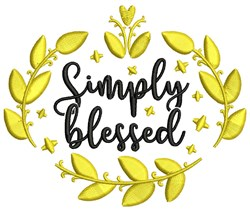 Simply Blessed embroidery design