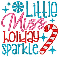 Little Miss Holiday Sparkle embroidery design