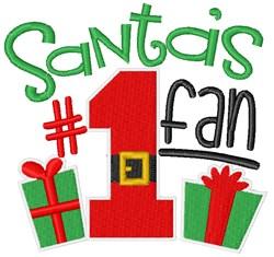 Santas #1 Fan embroidery design
