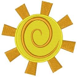 Stylish Sun embroidery design