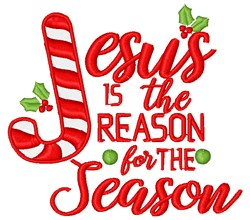 Jesus Is The Reason embroidery design