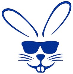 Sunglasses Bunny embroidery design