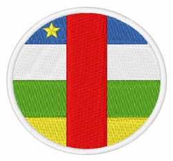 Central African Republic Flag embroidery design