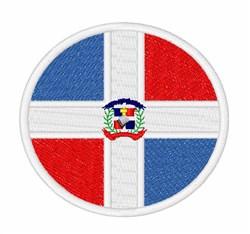 Dominican Republic Flag embroidery design
