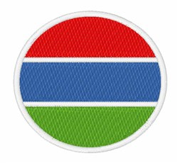 Gambia Flag embroidery design